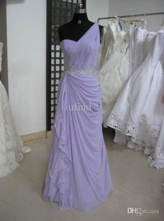 Wholesale Maid of Honor Dress - Buy Hotsale Cheap Real Sample Bridesmaid Dresses Chiffon Flowing Lace Waistband Light Purple One Shoulder Maid of Honor Dresses DMAI-089, $75.0 | DHgate Nina?