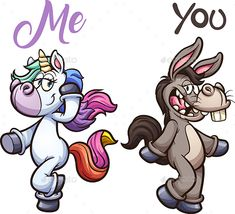 Buy Unicorn and Donkey by memoangeles on GraphicRiver. Unicorn and donkey posing. Vector clip art illustration with simple gradients. Each on a separate layer. Character Sketches, Character Illustration, Illustration Art, Character Design, Animation Character, Character Drawing, Unicorn Quotes, Unicorn Art, Cartoon Unicorn
