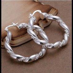 925 Silver Earrings, Sterling Silver Hoops, Women's Earrings, Silver Jewelry, Silver Rings, Silver Bracelets, Girls Jewelry, Jewelry Accessories, Women Jewelry