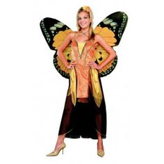 Butterfly Fairy Ladies Orange Std 10 - 12 Costume - Costumes Women