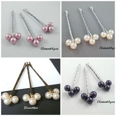 Pearl bobby pins Hair pins Bridal hair piece Flower girl Bridesmaid gift We Lemon Face Mask, Diy Accessoires, Metal Hair Clips, Barrettes, Bridal Hair Pins, Hair Beads, Pearl Hair, Wedding Hair Accessories, Hair Piece