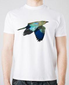 BLUE BIRD. #Camiseta 100% algodón estampada con #serigrafia digital 35€…