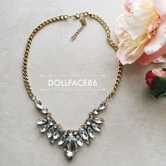 Beautiful Crystal Style Statement Necklace This is an awesome statement necklace to have because it goes with pretty much everything & it works great for dressing up a look.This necklace is NWT retail{  actual color of item may vary slightly from pics}  *length:9' on longest adjustable side   20% off bundles of 3/more items No Trades No transactions outside of Poshmark  No lowball offers Jewelry Necklaces