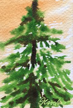 By Jeanette Crooks Watercolor Christmas Art, Country Roads