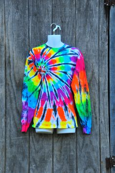 Spiral Pattern Tie Dye Shirt by tiedyecollective on Etsy - I love the black and white background. Dude!!!