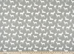 Deer Fabric Gray, Deer Silhouette Home Decor Fabric, Nursery Fabric, Premier Prints Deer Silhouette Storm Drapery Fabric by the Yard Deer Fabric, Nursery Fabric, Deer Silhouette, Premier Prints, Woodland Theme, Coordinating Fabrics, Etsy Shipping, Home Decor Fabric, Drapery Fabric