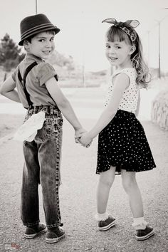 Adorable outdoor park session. Rockabilly Kids. Vintage Inspired. Pinup style photoshoot. Bandana Children's Photography. Kitty's Creations El Paso, Texas