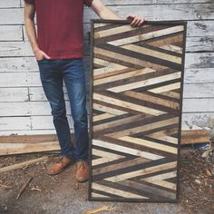 Rustic Wooden Art Design Made From Reclaimed Wood