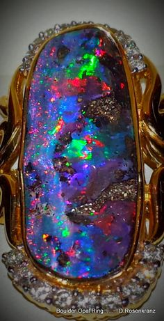 Boulder Opal Ring [ I think it is still available at Sunrise Opals  ,Montville ,Qld. Australia ]