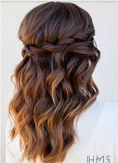 30 Chic Half Up Half Down Bridesmaid Hairstyles | Bridesmaid ...
