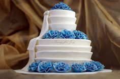 Blue Wedding Cake | Flickr - Photo Sharing!