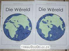 Digital Printables in Afrikaans and English School Grades, Preschool Learning Activities, Week 5, Home Schooling, Afrikaans, Homeschool, World, School Ideas, Worksheets