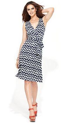 Printed Faux Wrap Dress by INC