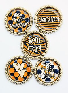 9328adc80ce West Virginia University Mountaineers lot of 5 by PutACapOnIt1