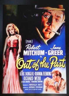 """""""Out Of The Past""""  Film Noir Movie Poster."""