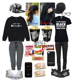 """Bff"" by minamihd ❤ liked on Polyvore featuring Ragdoll, ONLY, Monday, adidas, NIKE, Madewell, Casetify and Monki"