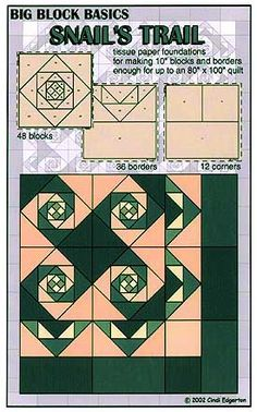 snail trail quilt pattern | Larger Image