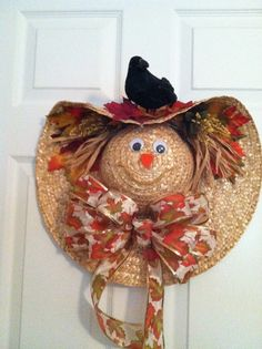 Scarecrow made from hat