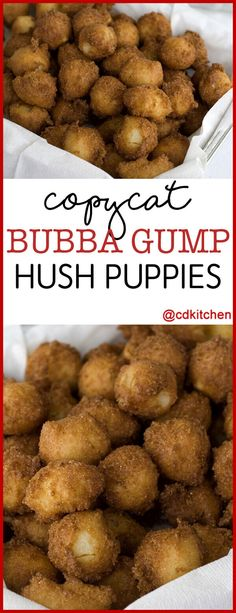 Hush puppies are as comforting as food gets. These give a little twist to classic fried cornmeal pups by throwing in some diced jalapenos and creamed corn kernels. Cornmeal Recipes, Corn Recipes, Seafood Recipes, Appetizer Recipes, Cooking Recipes, Appetizers, Recipies, Copycat Recipes, Catfish Recipes