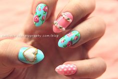 Spring Nails | Pastel Pink + Blue Mix & Match #Nailart