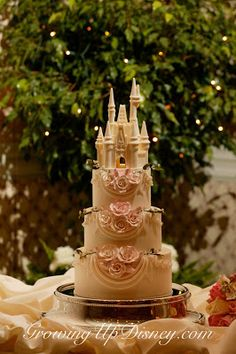 disney wedding cake, white chocolate castle