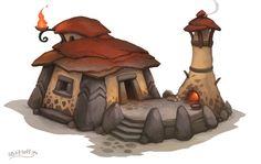 Stone House, Stoyan Stoyanov on ArtStation at http://www.artstation.com/artwork/stone-house