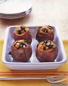 Savory Stuffed Sweet Potatoes