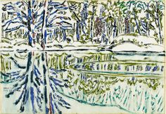 "David Milne Watercolors: ""Painting Toward the Light"" Canadian Painters, Canadian Artists, Abstract Landscape, Landscape Paintings, Landscapes, Art Gallery Of Windsor, David Milne, Art Base, Watercolor Techniques"