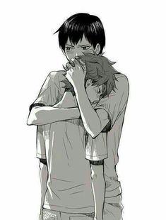 Kageyama Tobio x Hinata Shouyou (KageHina) / Haikyuu! Haikyuu Kageyama, Hinata Shouyou, Haikyuu Fanart, Haikyuu Ships, Haikyuu Anime, Kenma, Daisuga, Kuroken, Kagehina Cute