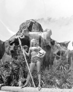 Melody May promoting the Jungle Land tourist attraction at Panama City Beach, Florida, 1966Source: State Library and Archives of Florida (flickr)