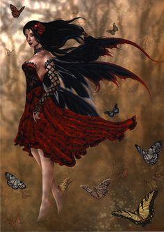 Flamenco ~ Nene Thomas #gothic dark angel#fantasy #art