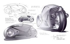 light cycle concept drawings.