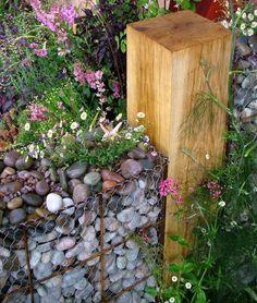 Gabion Fence Post Garden (Hampton Court Flower Show)