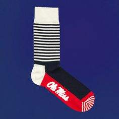 OLE MISS REBELS STRIPED SOCKS