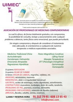 terapias Medicine, Counseling, Acupuncture, Therapy, School
