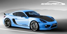 Porsche speedART SP81-CR bleue