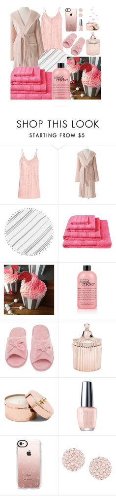 """Lazy Day"" by my-style-xo ❤ liked on Polyvore featuring Pine Cone Hill, Turkish-T, Designers Guild, Deluxe Comfort, Saks Fifth Avenue, OPI, Casetify, Swarovski, LazyDay and cozy"