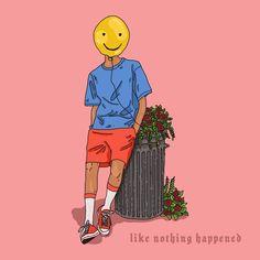 🙃 . . . . . #illustration #digital #digitaldrawings #digitalart #digitalpaint #drawinginphotoshop #drawing #cartoon #baloon #smile #trash… Follow Me On Instagram, Bart Simpson, Digital Art, Smile, Illustrations, Cartoon, Drawing, Memes, Artwork