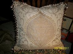 """Fancy cushion cover without the """"fancy"""" price :D click picture for more pics and how i made it :)"""