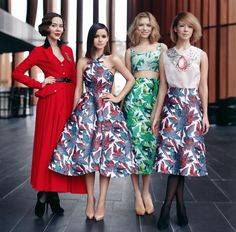 Ulyana Sergeenko, Miroslava Duma, Elena Perminova, & Vika Gazinskaya - The Russians   *These women are so fabulous*