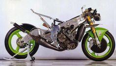 Kawasaki X-09  The stunning X-09 250cc 2 stroke GP motorcycle was brought to Daytona in 1992, taking almost everyone by surprise- Kawasaki had been gone... - Robert Keeling - Google+