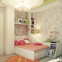 Beautiful bedroom idea for girls.