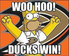 Hockey Party, Ice Hockey, Football And Basketball, College Football, Ducks Hockey, Anaheim Ducks, Oregon Ducks, The Simpsons, Nhl