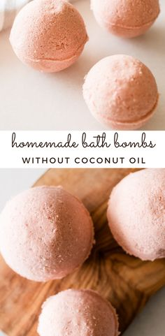 These homemade bath bombs without coconut oil are perfect for a soothing and calming bath. Made with all-natural ingredients and pure essential oils, bath bombs are the perfect way to relax after a long day. Homemade Lip Balm, Homemade Soap Recipes, Homemade Bath Bombs, Bath Bomb Recipes, Pure Essential, Beauty Recipe, Calming, Natural Products, Beauty Products