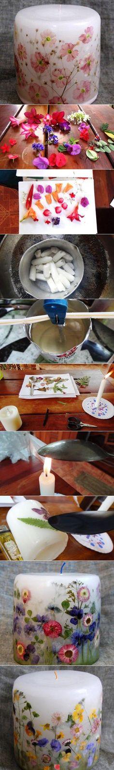 Espelmes amb flors