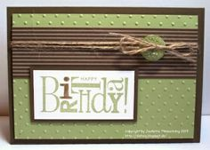 Happy Birthday! Masculine card