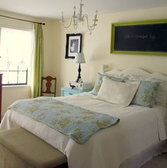 Sherwin Williams Morning Sun light yellow bedroom paint color | Involving Color Paint Color Blog