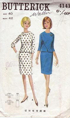 60s Vintage Sewing Pattern Butterick 4141 by allthepreciousthings,