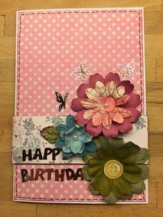 Scrapbooking card happy birthday