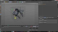 cinema4d easy fish swiming : Mesh deformer